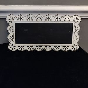Whitewashed Blackboard Wall Decor